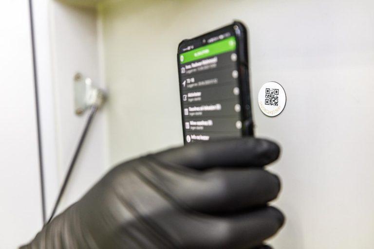 Vi dokumenterer alt med RF ID-tag